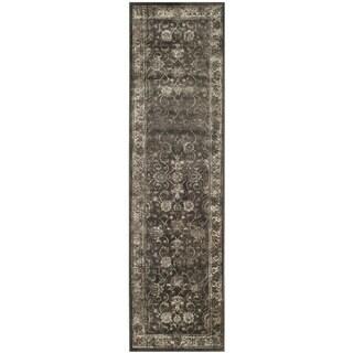 Safavieh Vintage Oriental Soft Anthracite Distressed Silky Viscose Rug (2'2 x 10')
