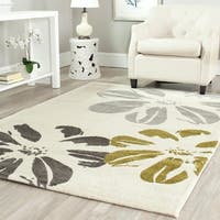 Safavieh Porcello Contemporary Floral Ivory/ Grey Rug - 8' x 11'2