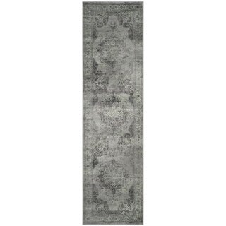 Safavieh Vintage Grey/ Multi Distressed Silky Viscose Rug (2'2 x 10')