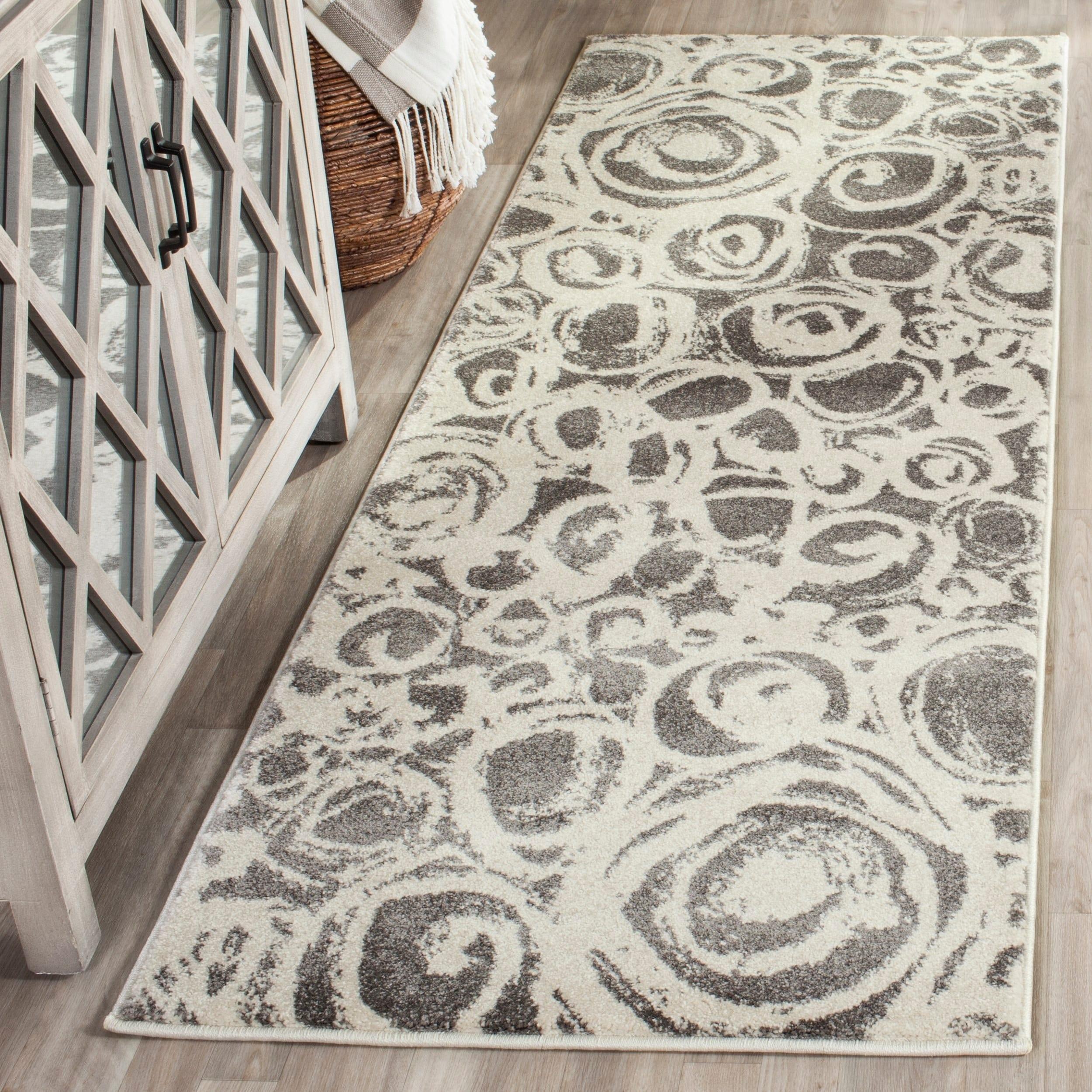 Safavieh Porcello Modern Abstract Dark Grey/ Ivory Rug (5...