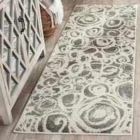Safavieh Porcello Modern Abstract Dark Grey/ Ivory Rug - 5'3 x 7'7