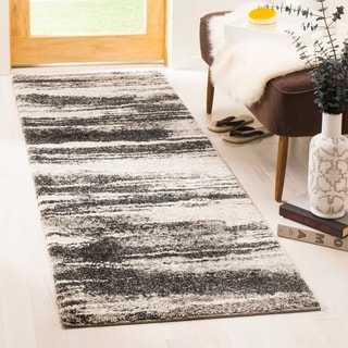 Safavieh Retro Modern Abstract Dark Grey/ Light Grey Distressed Rug (2'3 x 9')