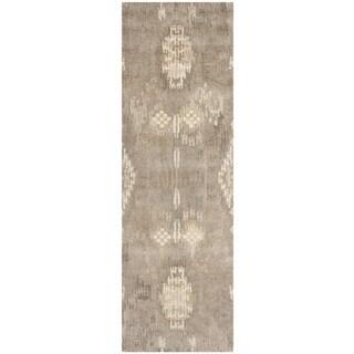 Safavieh Handmade Wyndham Natural/ Multi Wool Rug (2'3 x 9')