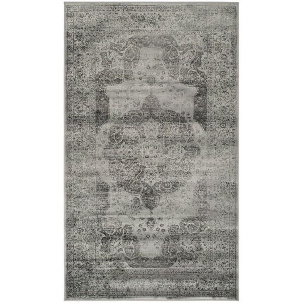 Safavieh Vintage Grey/ Multi Distressed Silky Viscose Rug - 2' x 3'