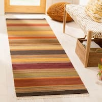 "Safavieh Hand-woven Striped Kilim Gold Wool Rug - 2'3"" x 6'"