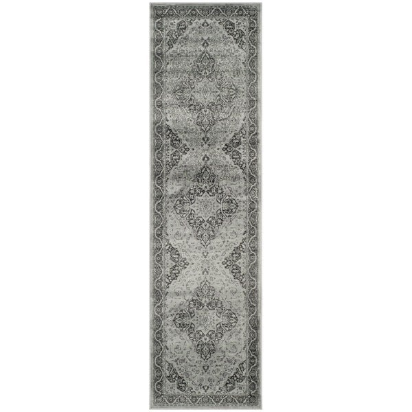 Safavieh Vintage Oriental Light Blue/ Multi Distressed Silky Viscose Rug (2'2 x 6')
