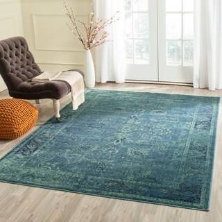Safavieh Vintage Oriental Turquoise Distressed Silky Viscose Rug (2' x 3')