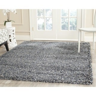 Safavieh New York Shag Blue/ Grey Rug (3' x 5')