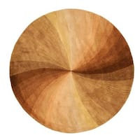 Hand-tufted Wool Brown Contemporary Abstract  Swirl Rug (4' Round) - 4' Round