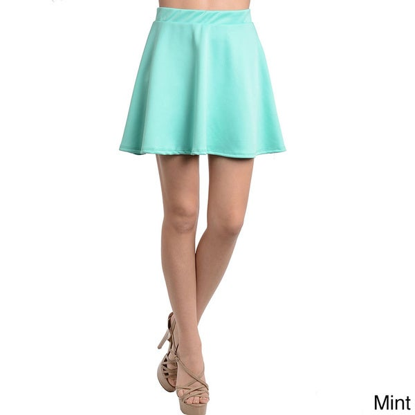 Shop The Trends Women's Bright Solid Skirt