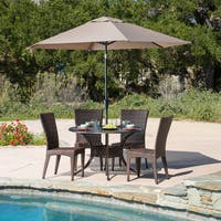 Brooke Circular Outdoor Cast and Wicker 5-piece Set by Christopher Knight Home