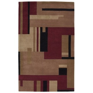 Nourison Dimensions Multicolor Wool Rug (5' x 8')