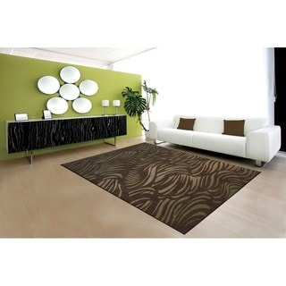 Nourison Somerset Brown Abstract Rug (5'6 x 7'5)