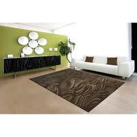 Nourison Somerset Brown Abstract Rug (5'6 x 7'5) - 5'6 x 7'5