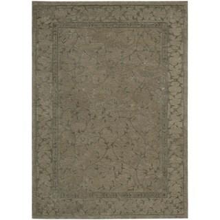 Modern Elegance Taupe Wool Rug (3'6 x 5'6)