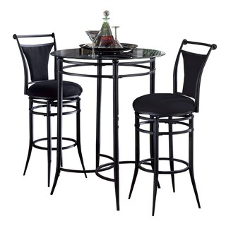 Cierra 3-piece Black Bistro Set