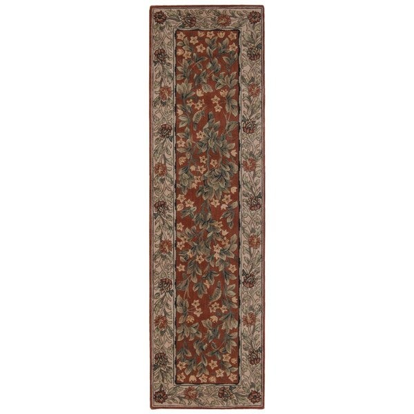 Vallencierre Rust Wool Runner Rug (2'3 x 8')