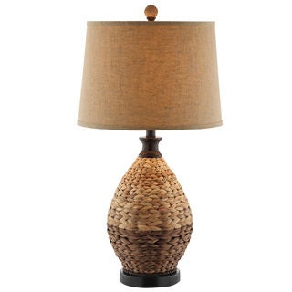 Weston 1-light Two-tone Rattan Table Lamp