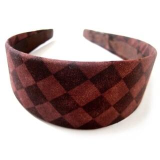 Crawford Corner Shop Two-tone Brown Diamond-print Headband