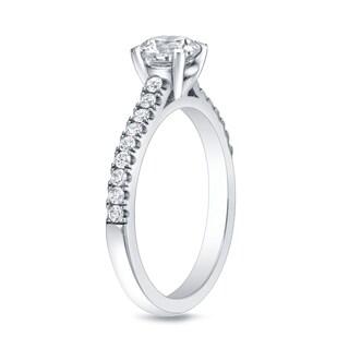 Auriya 14k Gold 1ct TDW Round-cut Diamond Engagement Ring