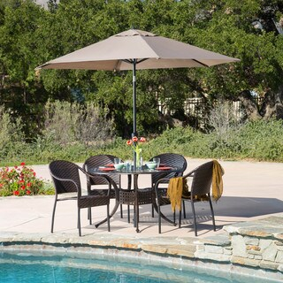 Sunset Circular Outdoor Cast and Wicker 5-piece Set by Christopher Knight Home