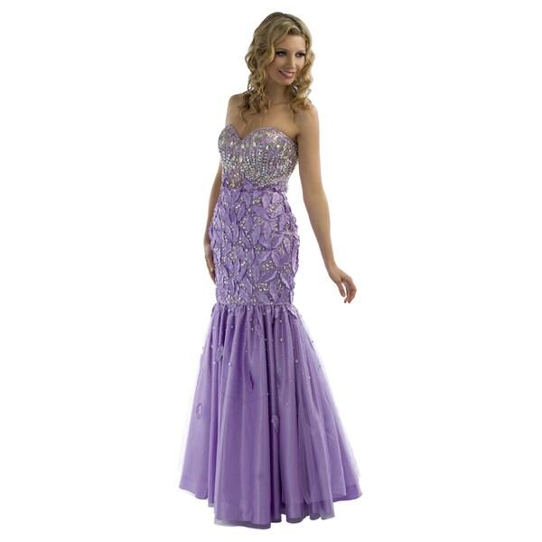 Daniella Couture Lavender Puff Dress