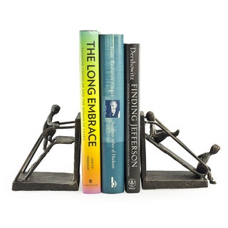 Children on a Slide Iron Bookend Set