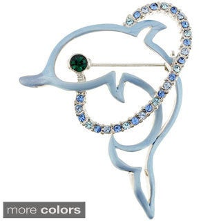 Blue Dolphin Pin Animal Pin Brooch
