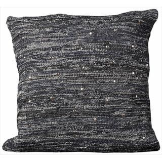 Mina Victory Denim Woven Pins Denim Throw Pillow (20-inch x 20-inch) by Nourison