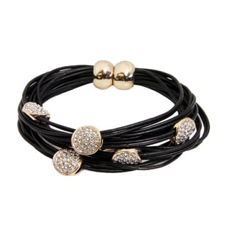 Handmade Saachi Magnetic String Bracelet with Circle Charms (China)