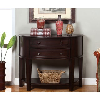 Furniture of America Rowe Traditional Espresso Solid Wood Accent Table