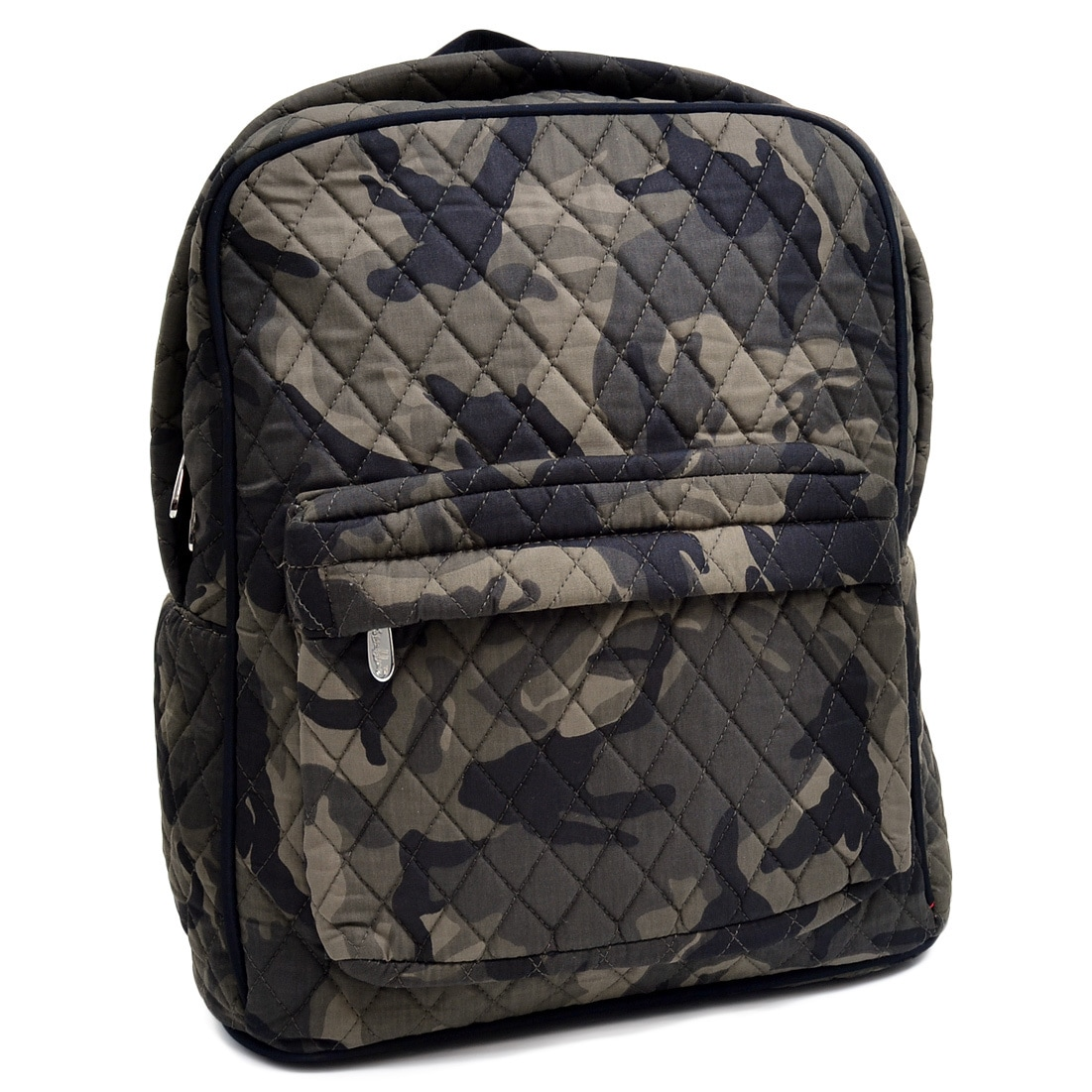 Dasein Rosen Blue Camouflage Printed Quilted Classic Back...