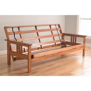 Somette Beli Mont Multi-flex Honey Oak Full-size Wood Futon Frame