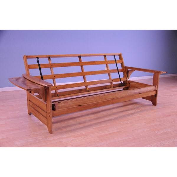 Havenside Home Okaloosa Honey Oak Full-size Wood Futon Frame