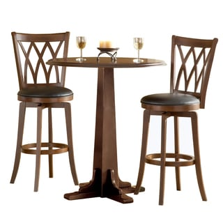 Mansfield Brown Cherry 3-piece Pub Set  sc 1 st  Overstock.com & Hillsdale Bar u0026 Pub Table Sets For Less | Overstock