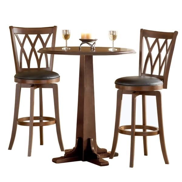 Bar Table Sets For Kitchen: Shop Mansfield Brown Cherry 3-piece Pub Set