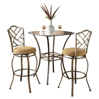 Hanover 3-piece Brown Powder Coated Bistro Set