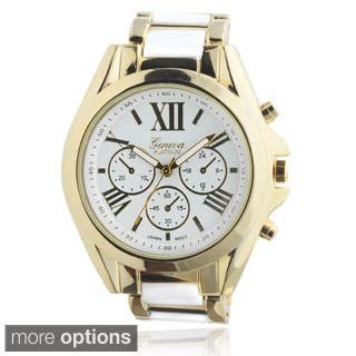 Geneva Platinum Women's Roman Numeral Metal Link Watch|https://ak1.ostkcdn.com/images/products/8884300/Geneva-Platinum-Womens-Roman-Numeral-Metal-Link-Watch-P16107407s.jpg?impolicy=medium