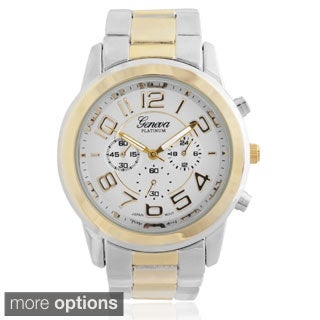 Geneva Platinum Women's Metal Link Watch