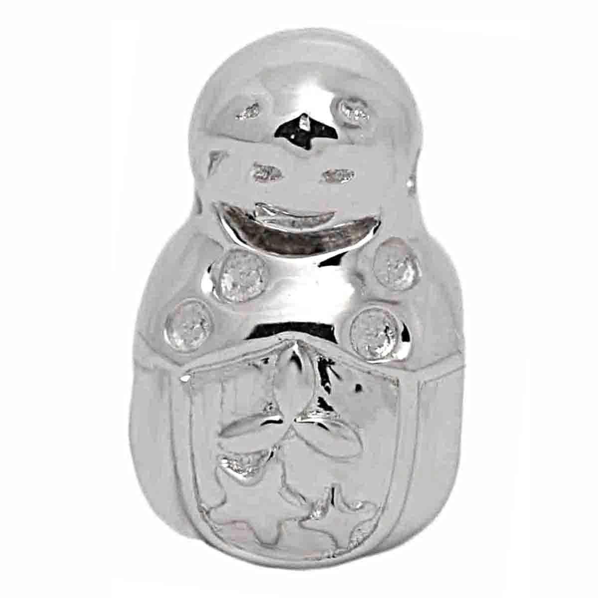 De Buman Sterling Silver Russian Doll Charm Bead (Charm B...