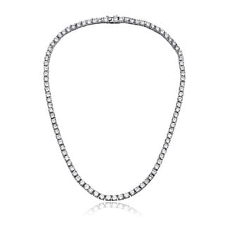 Collette Z Sterling Silver Cubic Zirconia 3-mm Tennis Necklace