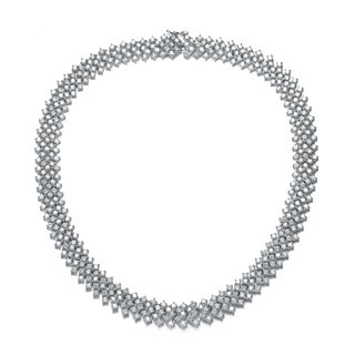 Collette Z Sterling Silver Cubic Zirconia 5-row Necklace