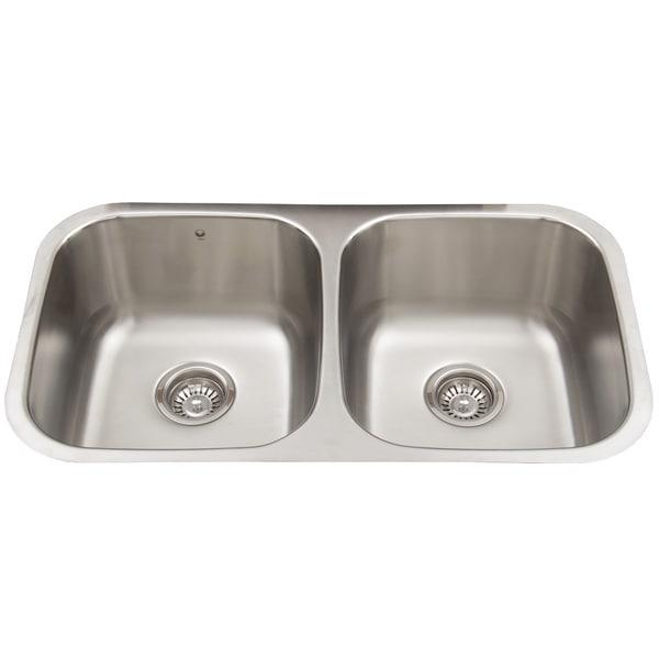 VIGO 32-inch Undermount Stainless Steel Double Bowl Kitchen Sink