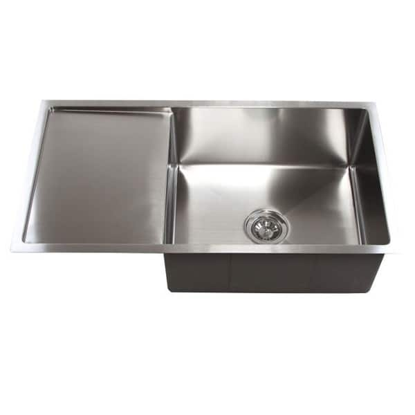 Stainless Steel 15mm Radius 36 Inch Single Bowl Undermount Sink Overstock 8884490