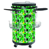 70-Bottle Single Zone 1.77 cu. ft. Refrigerated Party Cooler with casters, Green