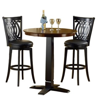 Van Draus Brown Cherry/ Black 3-piece Pub Set