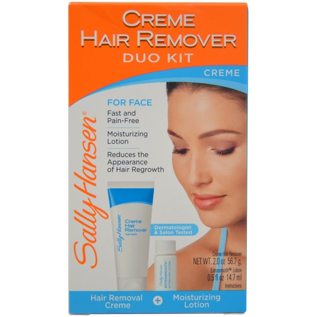 Shop Sally Hansen Cream Hair Remover Duo Kit For Face Free