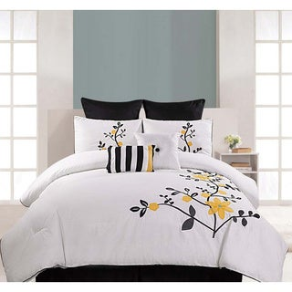 Embroidered Pinecrest 8-piece Cotton Comforter Set