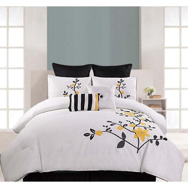 Embroidered Pinecrest 8-piece Cotton Comforter Set