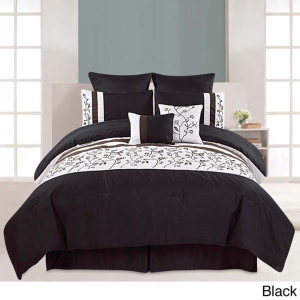 Embroidered 8-piece Melbourne Cotton Comforter Set
